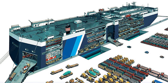 Overseas Shipping Vessel